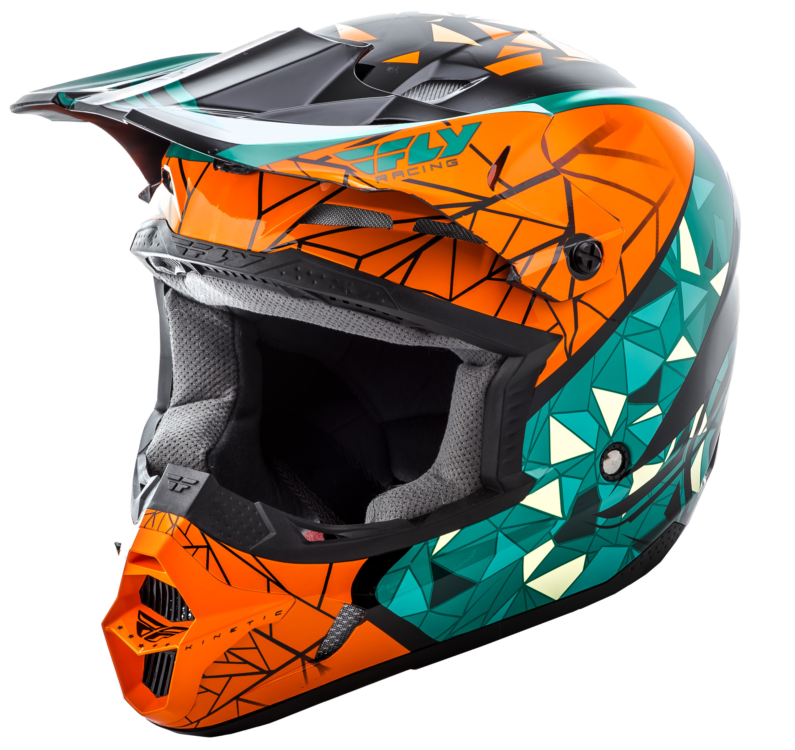 KINETIC CRUX Helmet Teal Orange Black,  YS  73-3388YS