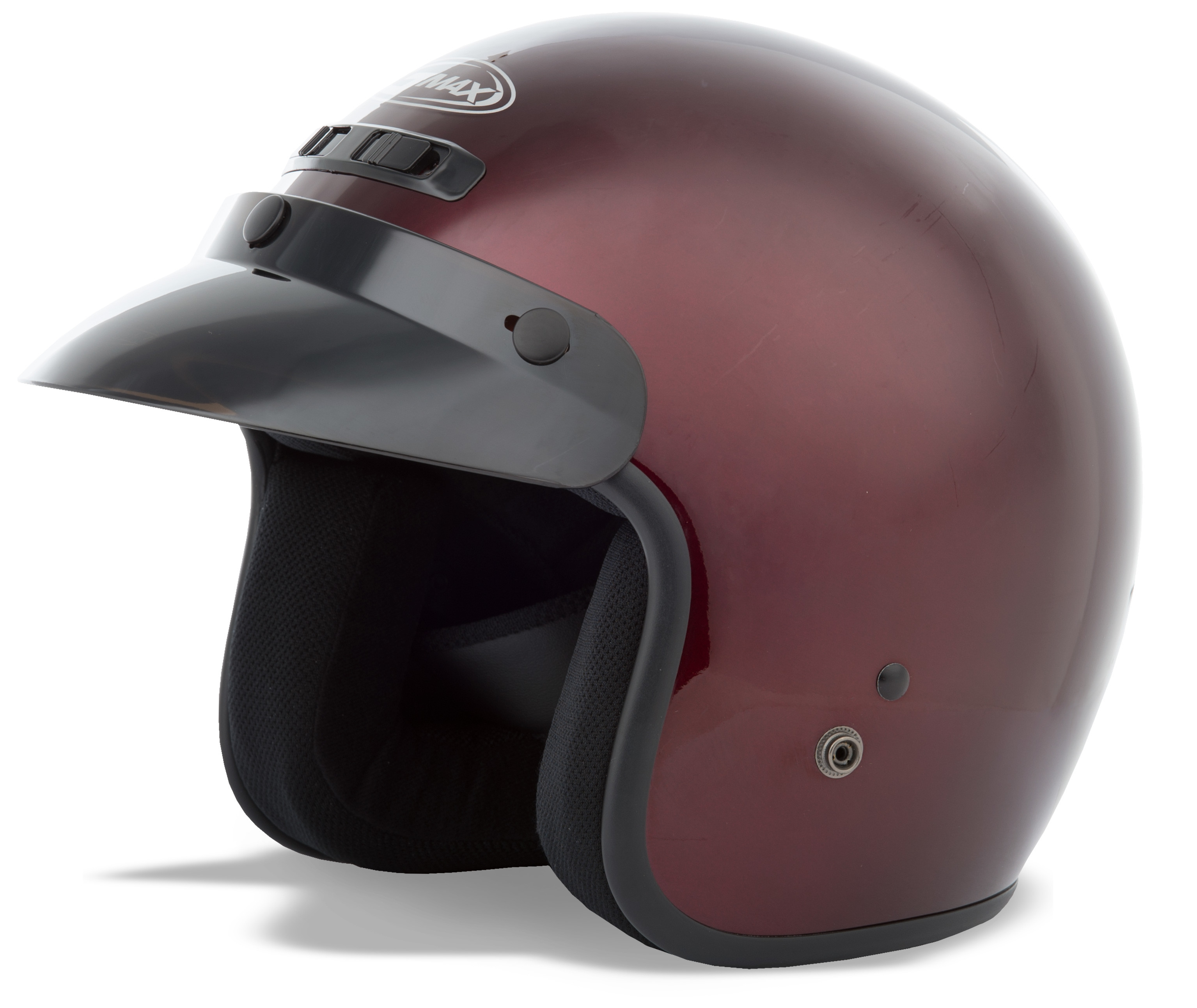 YOUTH GM-2 Open-Face Helmet,  Wine YL-YX 72-5353YL