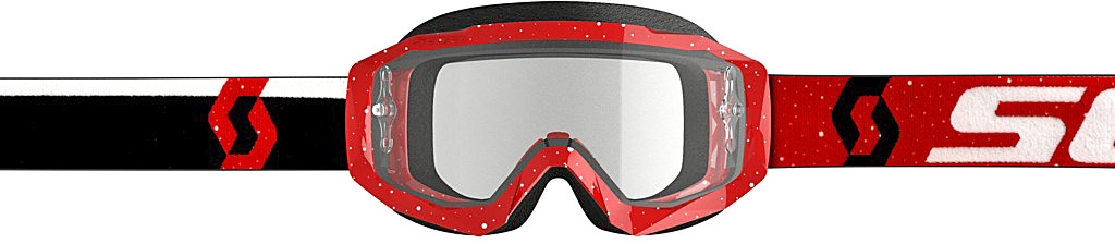 HUSTLE GOGGLE X RED/WHITE W/CLEAR WORKS