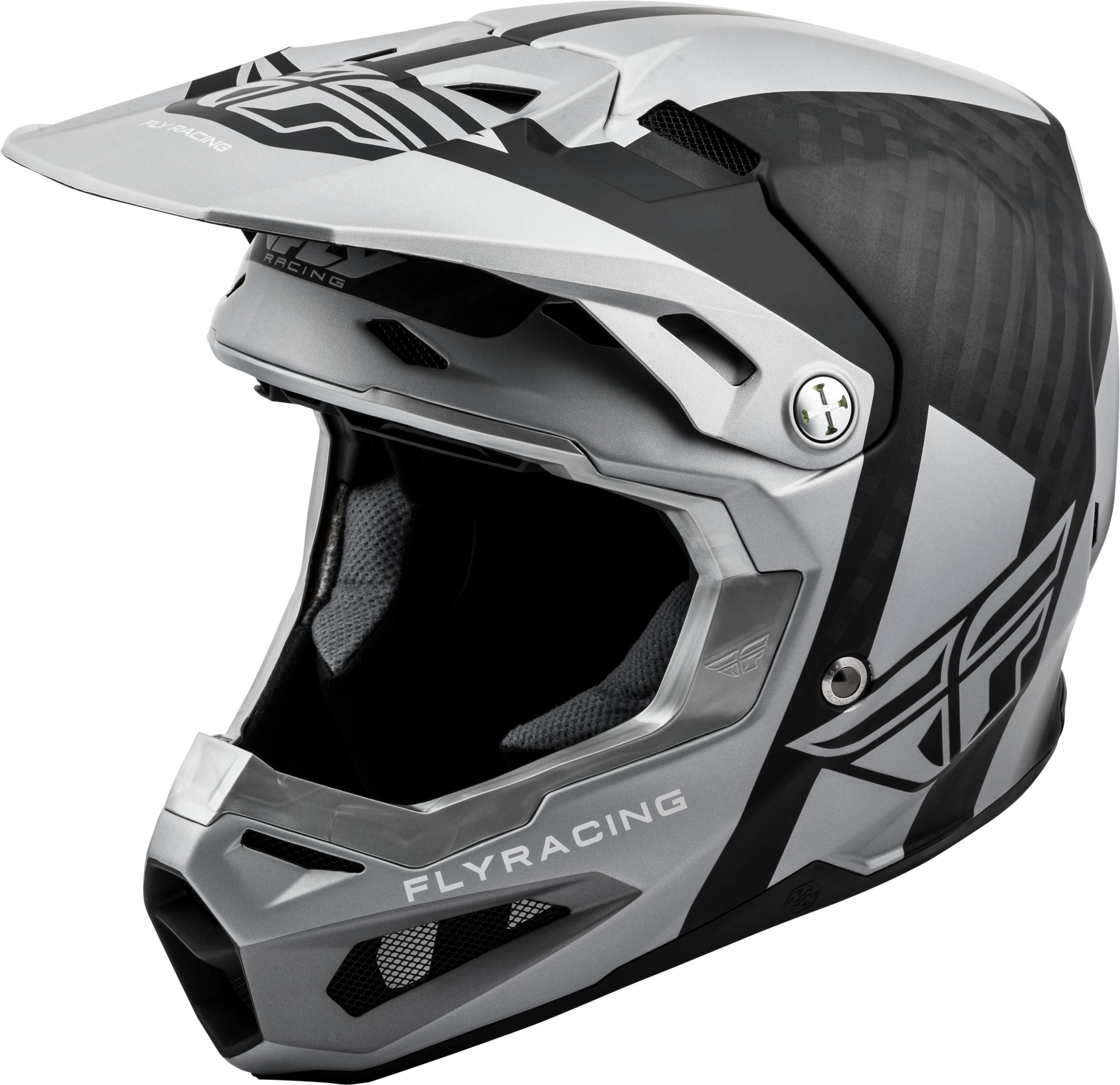 FORMULA ORIGIN Helmet Matte,  Black Silver MD 73-4405M