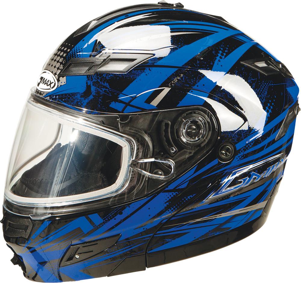 GM-54S MODULAR Snow Helmet,  Black Blue Silver XS 72-6242XS