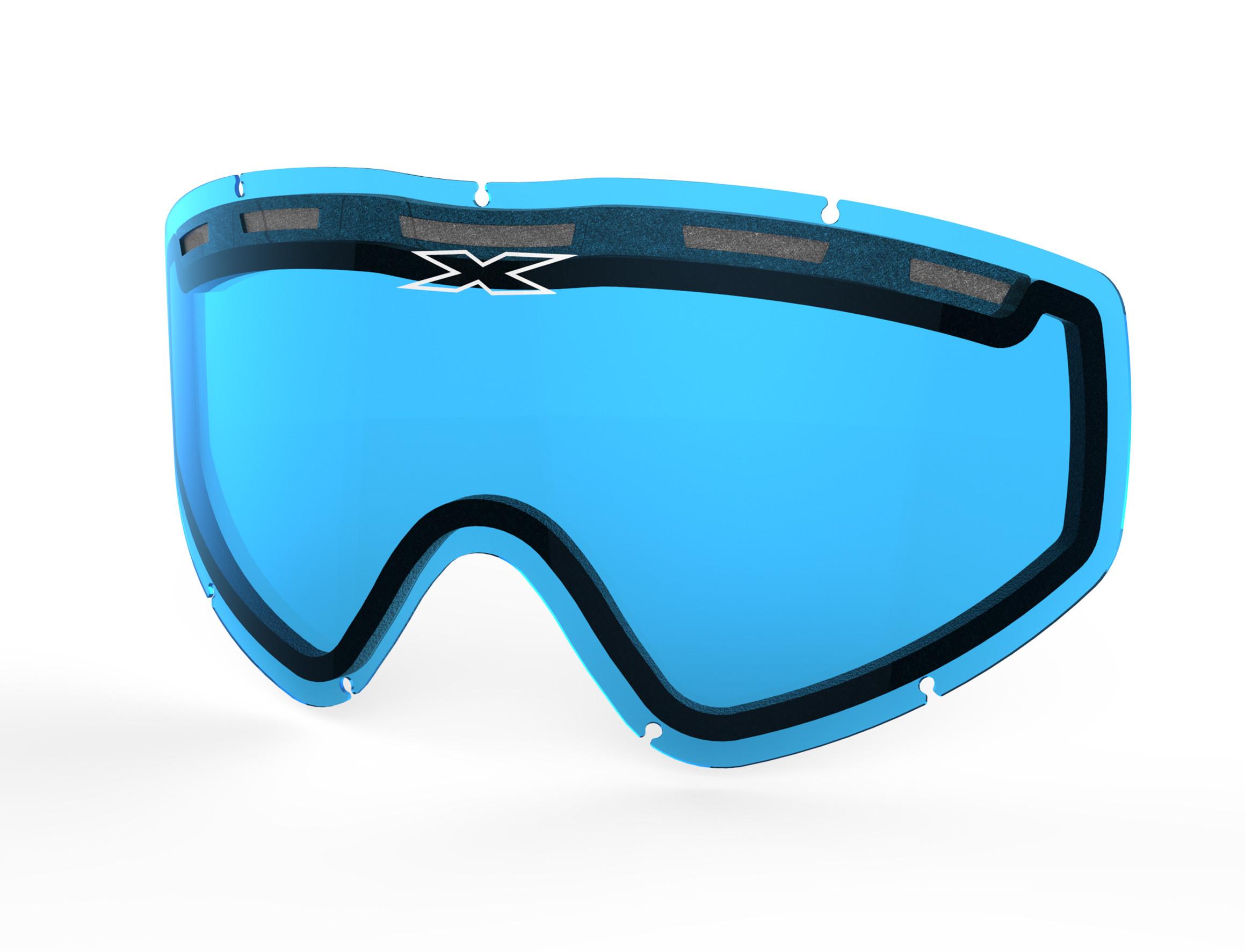 GO-X DUAL-PANE VENTED LENS BLUE