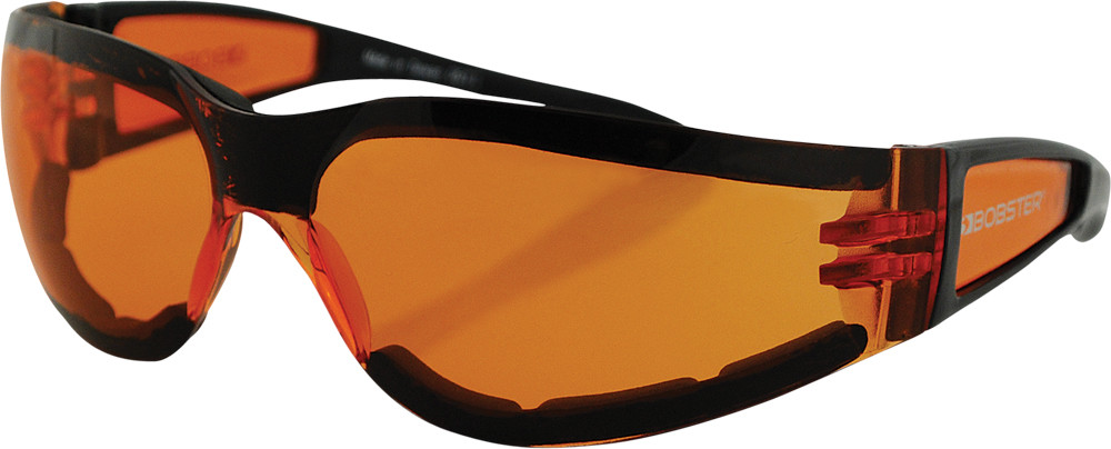 SHIELD II SUNGLASSES BLACK W/AMBER LENS