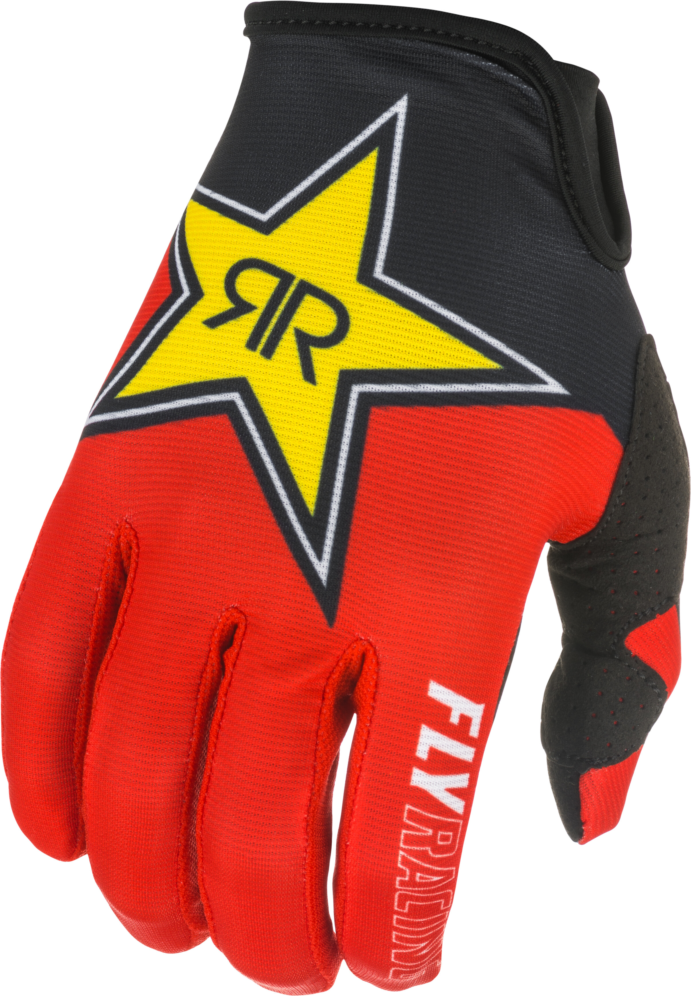 LITE ROCKSTAR GLOVES BLACK/RED/YELLOW SZ 08