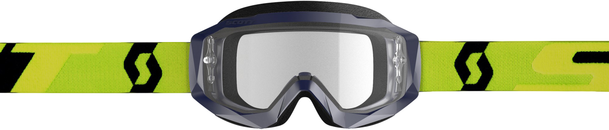HUSTLE GOGGLE X YELLOW/BLUE W/CLEAR WORKS