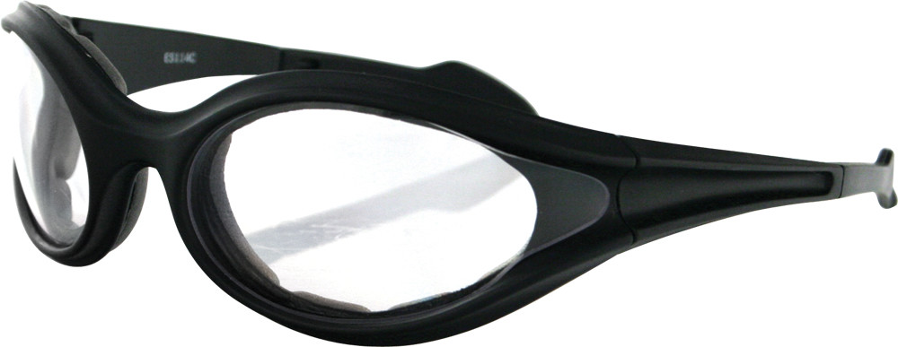 FOAMERZ SUNGLASSES BLACK W/CLEAR LENS