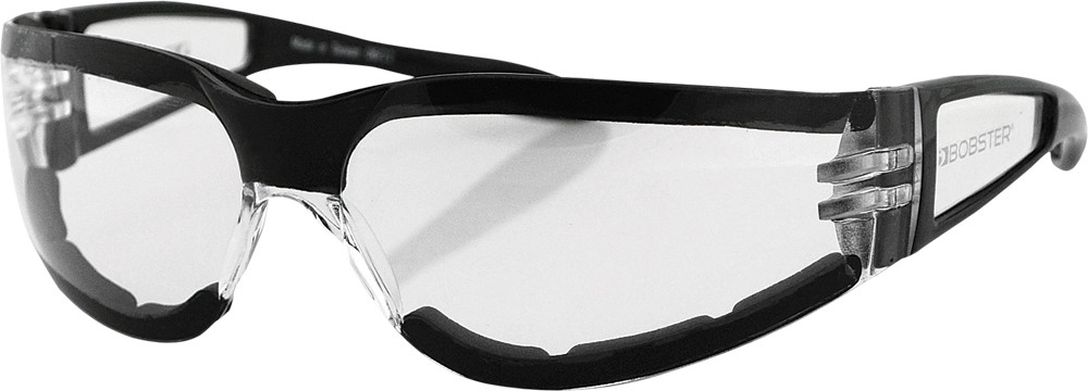 SHIELD II SUNGLASSES BLACK W/CLEAR LENS