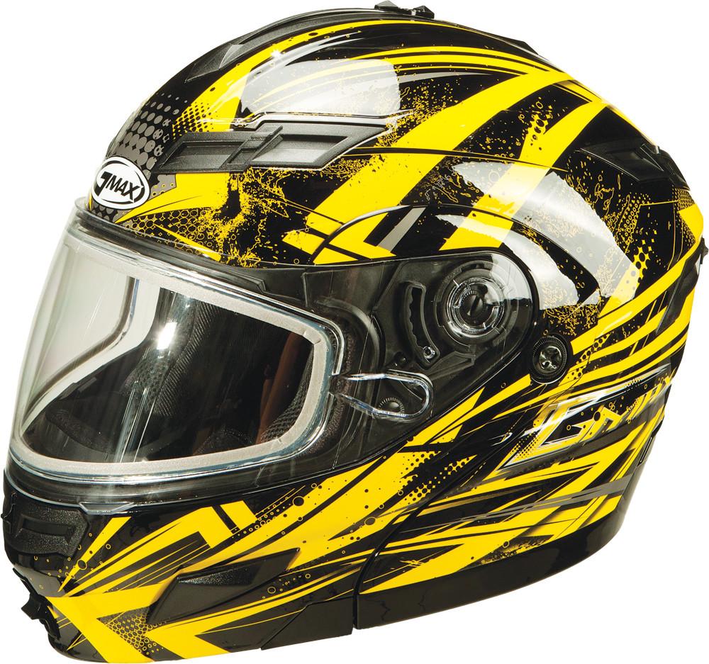 GM-54S MODULAR Snow Helmet,  Black Yellow Silver XS 72-6245XS