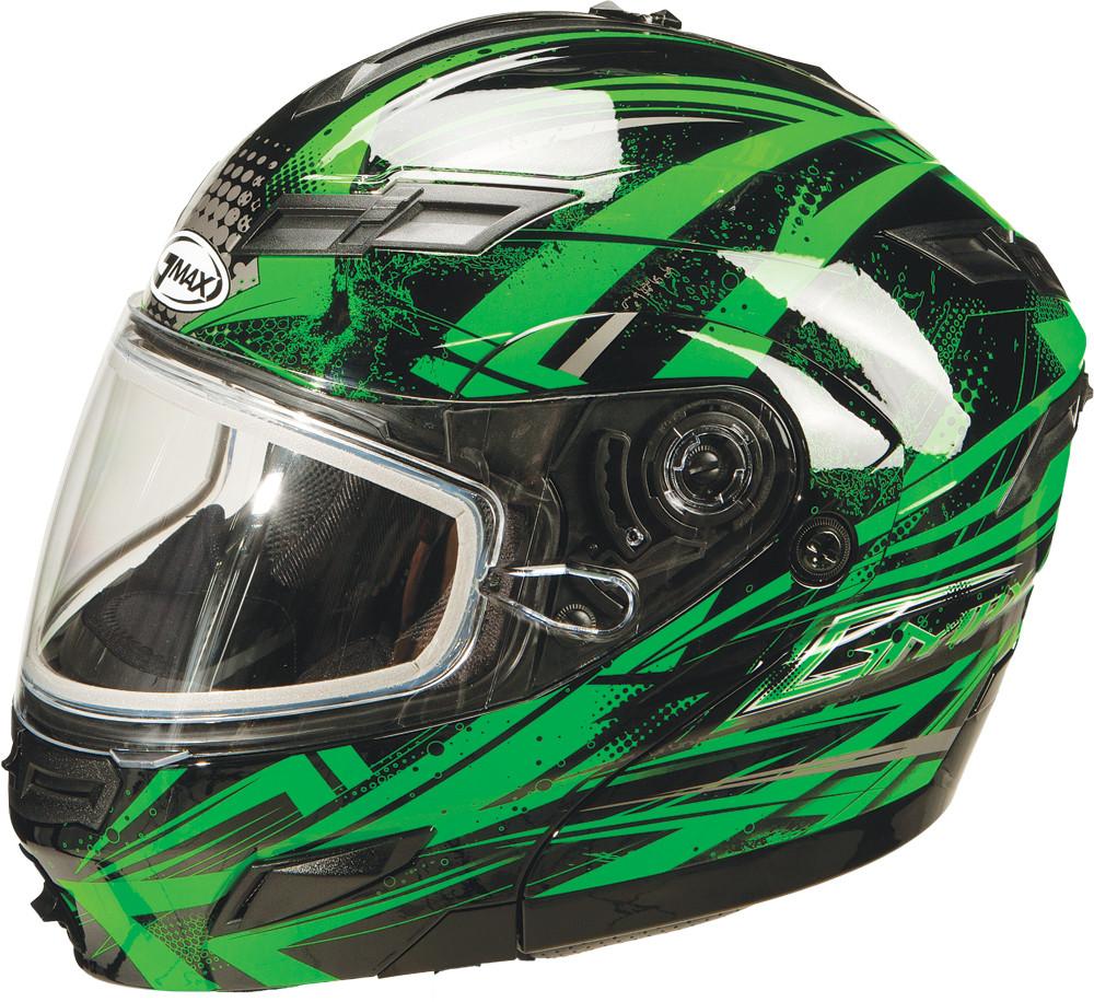 GM-54S MODULARS Snow Helmet,  Black Green Silver XS 72-6244XS