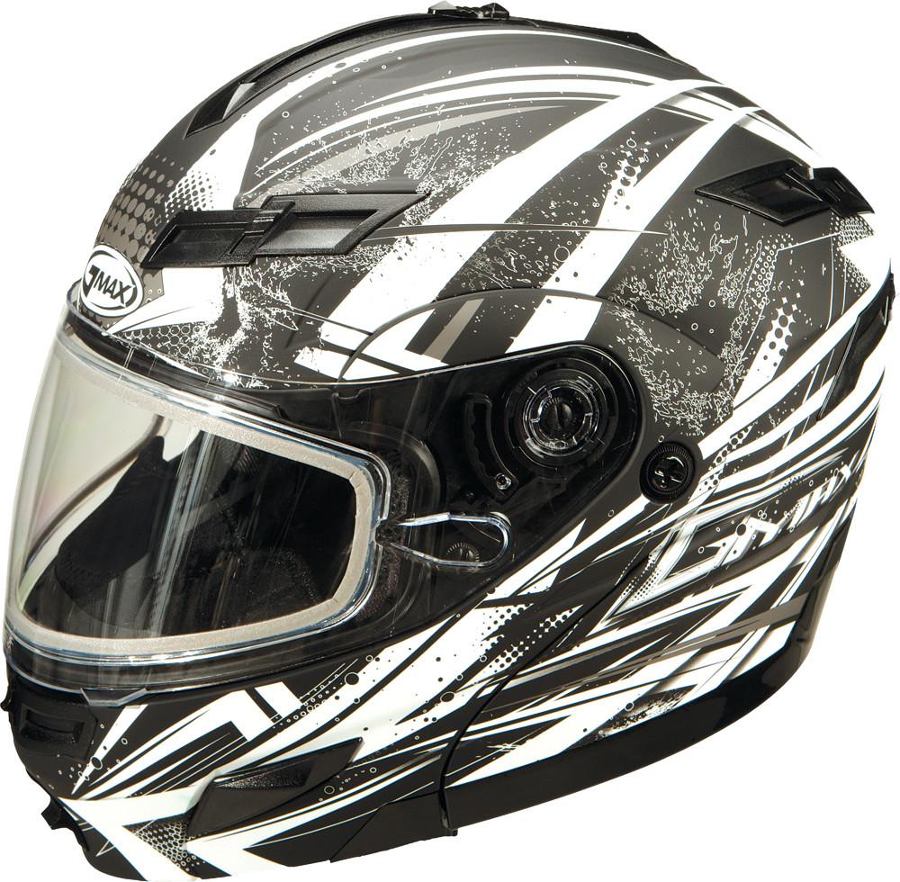 GM-54S MODULAR Snow Helmet,  Matte BLACK WHITE SILVER 72-6247XS