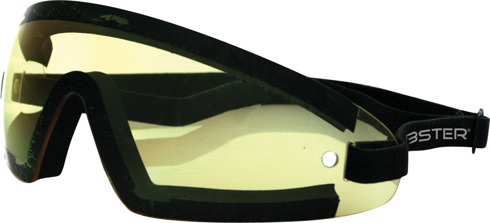 WRAP AROUND SUNGLASSES BLACK W/YELLOW LENS
