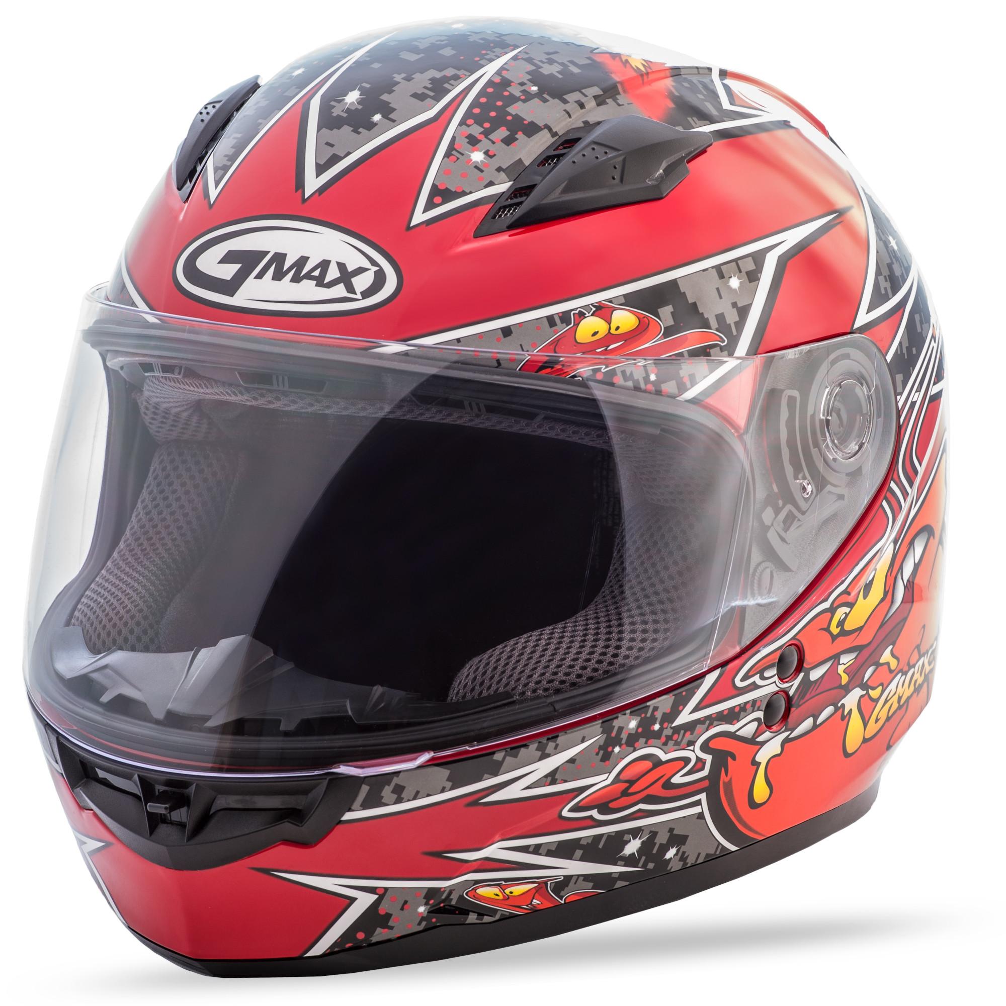 YOUTH GM-49Y Full-Face Alien,  Helmet BLACK RED 72-4981YS