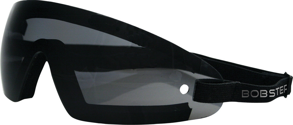 WRAP AROUND SUNGLASSES BLACK W/SMOKE LENS