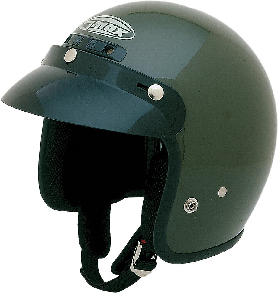 GM-2 OPEN Face Helmet,  ATV GREEN 72-5357S