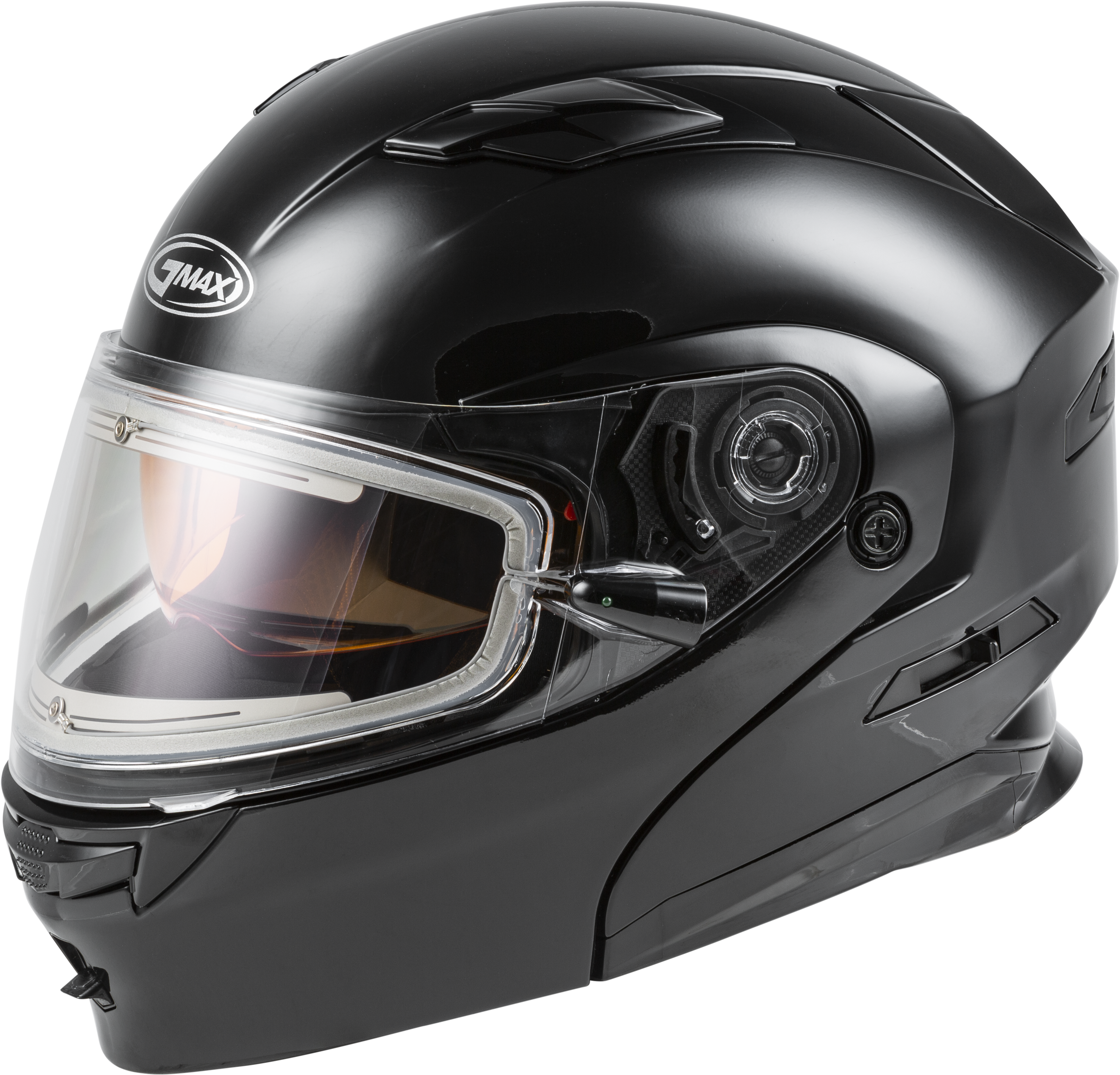 MD-01S Modular Snow Helmet Solid w/Quick Release Buckle Electric shield