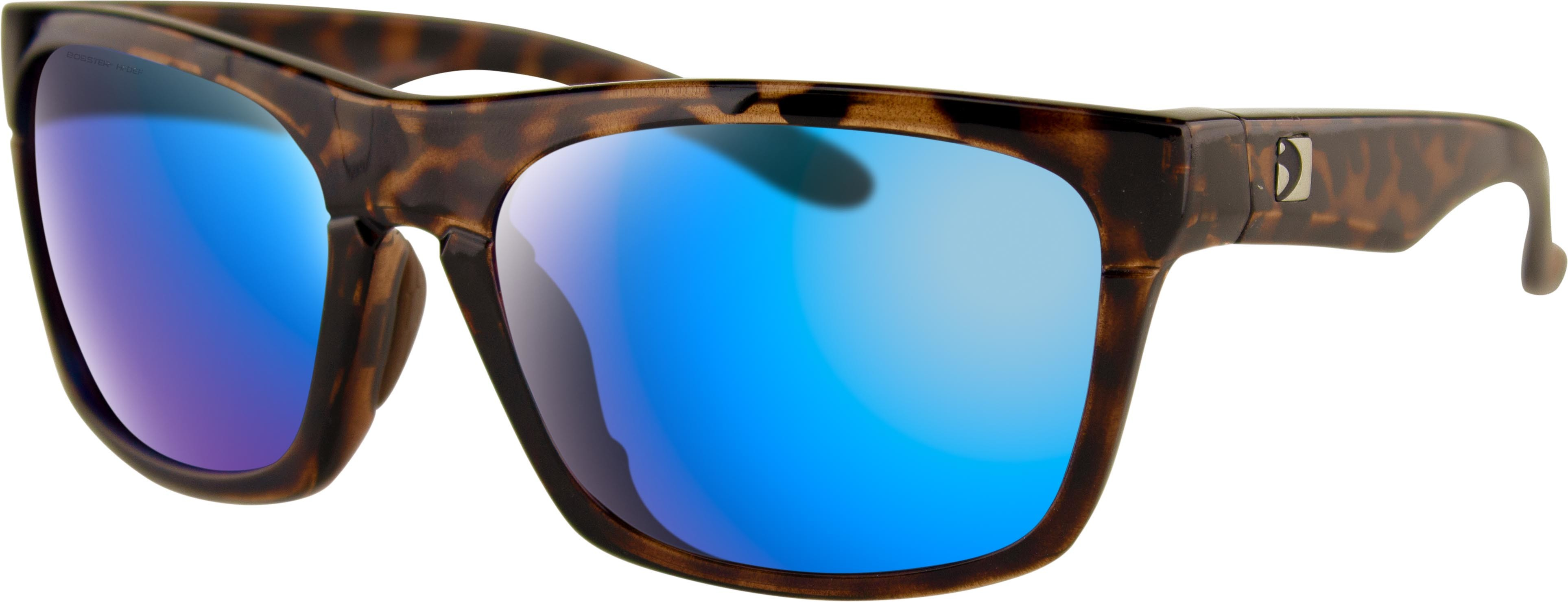 ROUTE SUNGLASSES BROWN TORT W/PUR HD/LIGHT BLUE REVO MIR