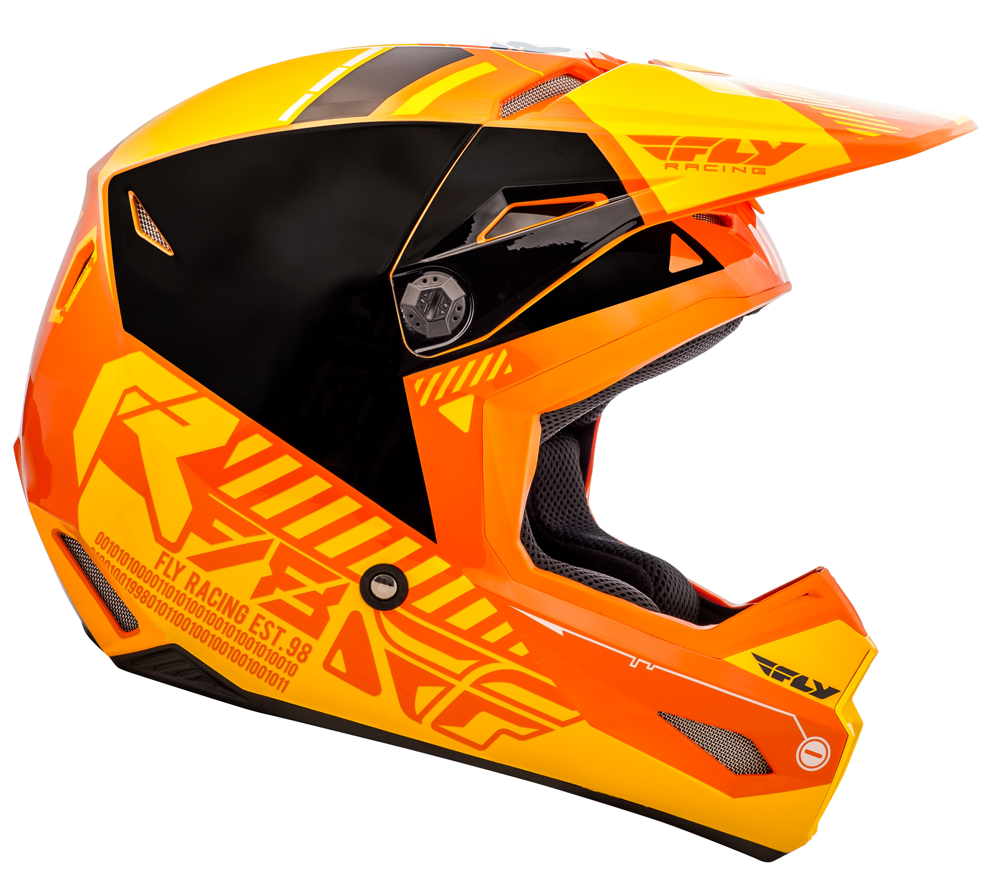 Motocross//Dirt Bike//ATV//MX Fly Racing *Kinetic Elite Onset* Off Road Helmet