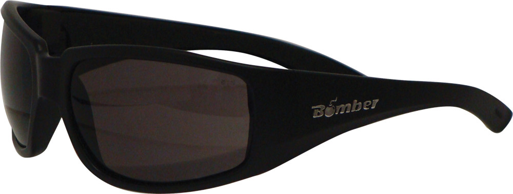 STINK-BOMB SAFETY EYEWEAR MATTE BLACK W/SMOKE LENS