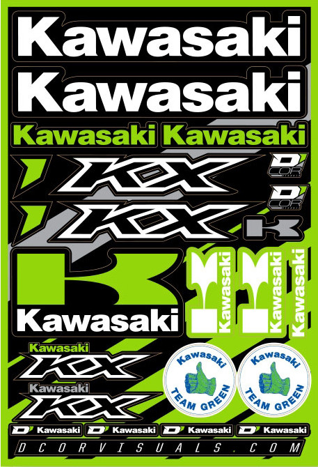 Kawasaki Decal Sheet 12