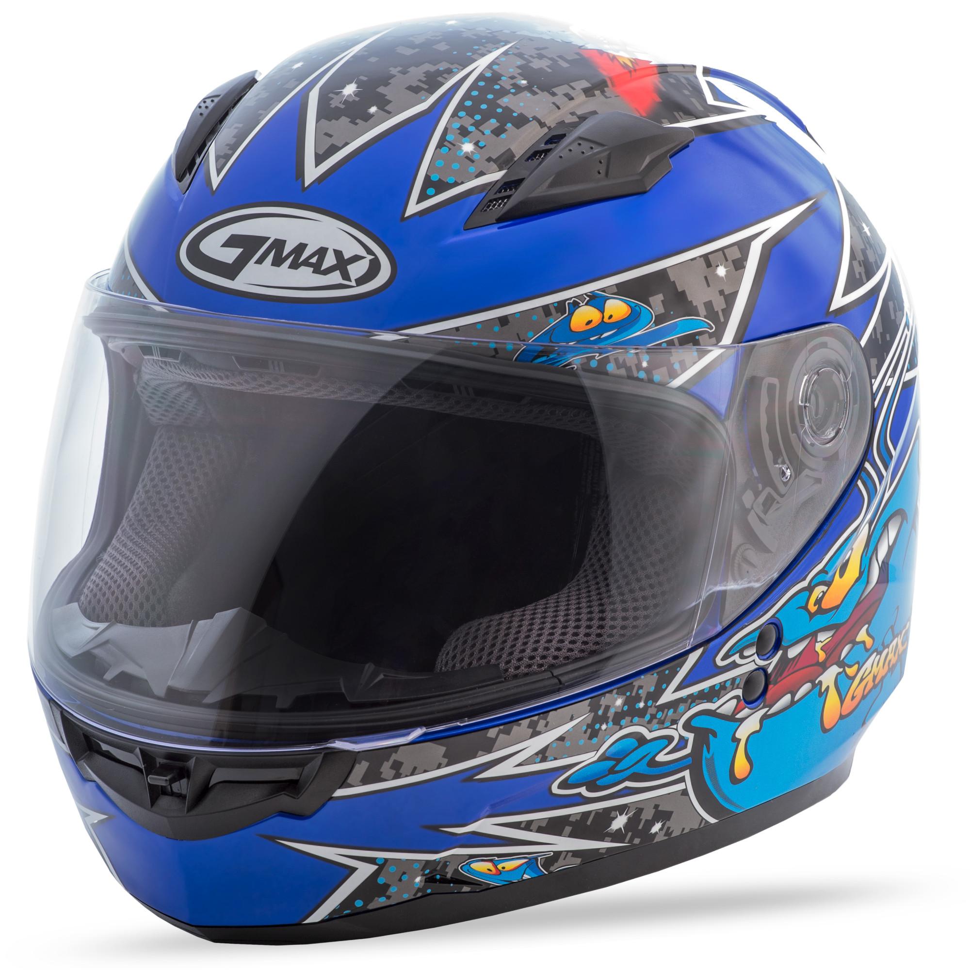 YOUTH GM-49Y Full-Face Alien,  Helmet BLACK BLUE 72-4982YM