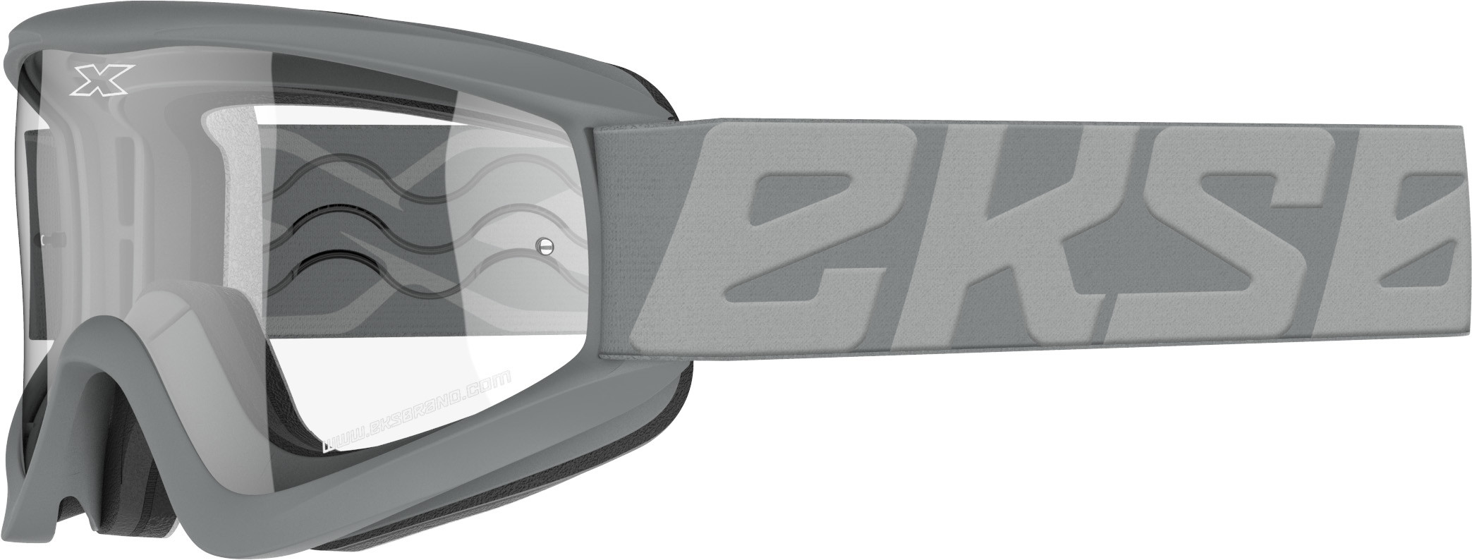FLAT-OUT GOGGLE FIGHTER GREY W/CLEAR LENS