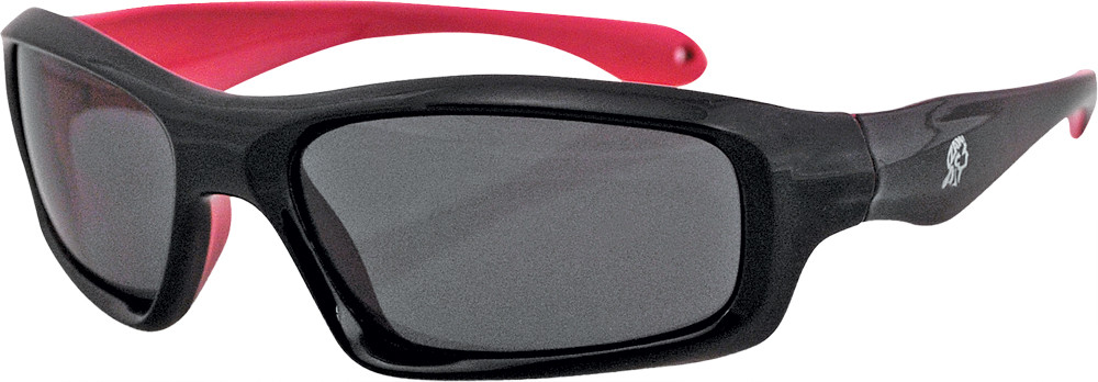 Seattle Sunglasses Black/Pink Frame W/Smoked Lens