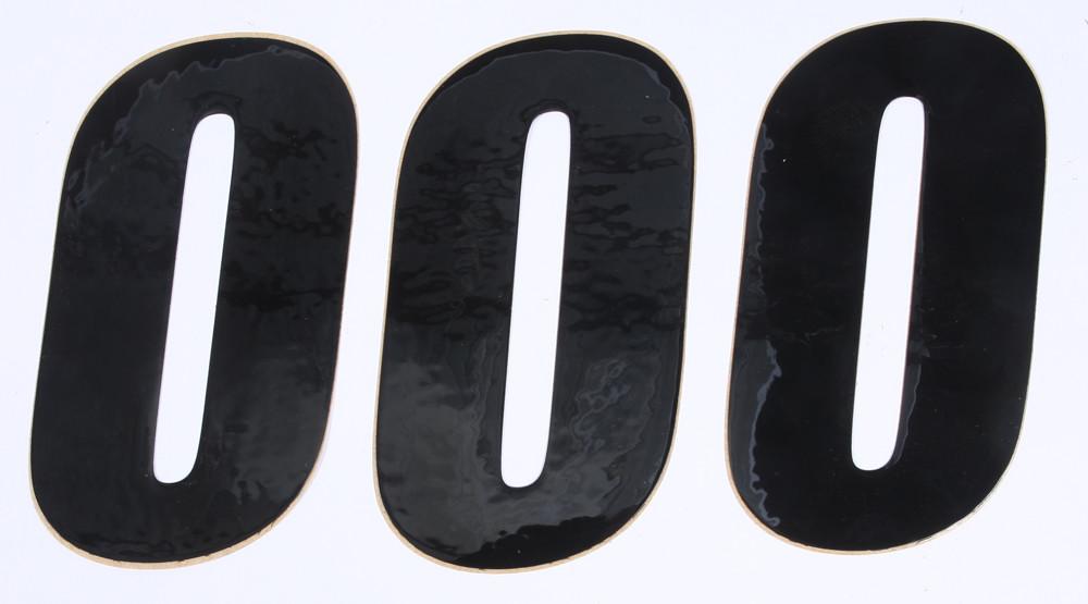 Number 0 Black 6