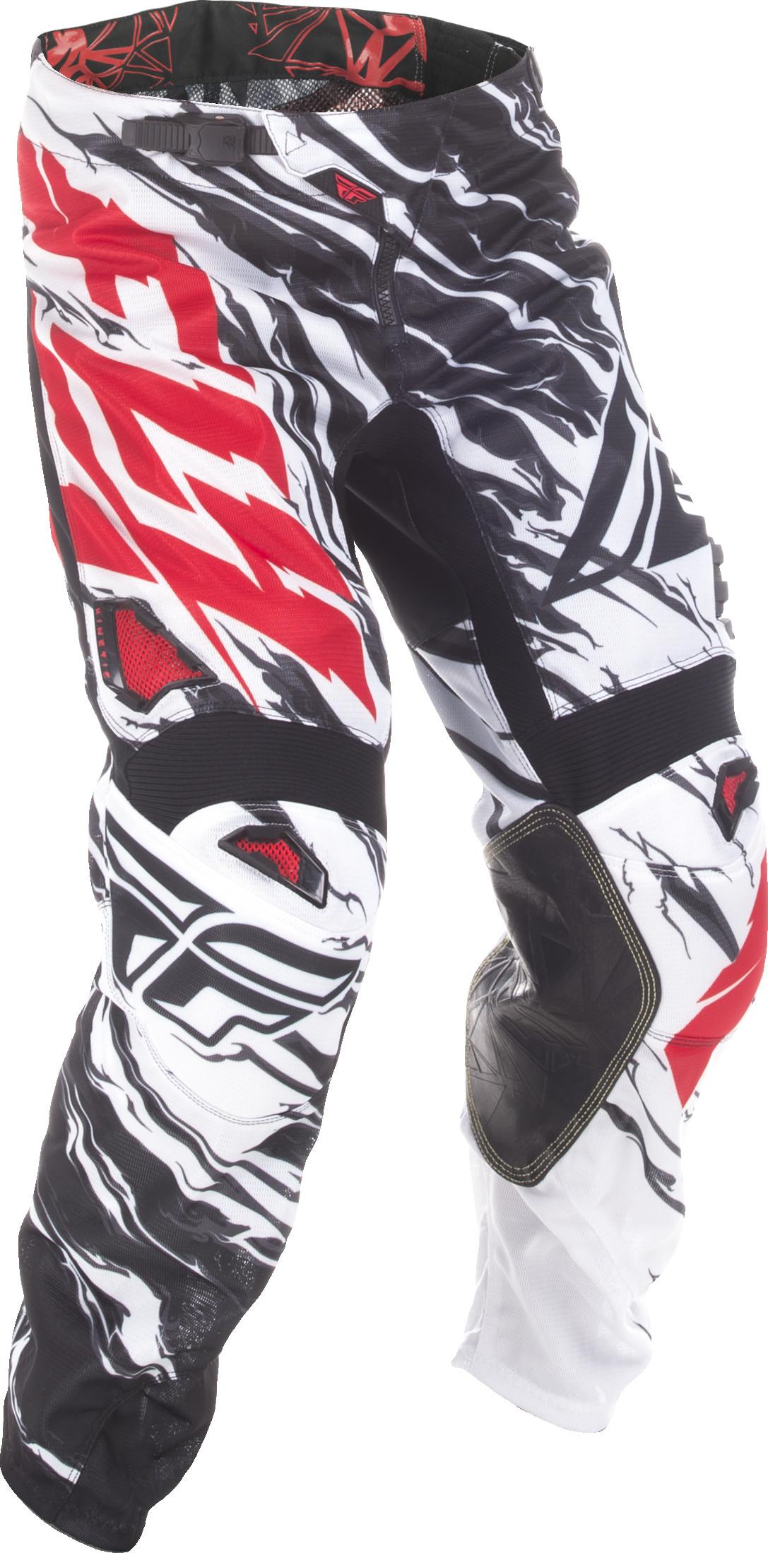 Fly Racing MX Motocross 2017.5 Kinetic ROCKSTAR Mesh Pants Blk//White//Red US 32