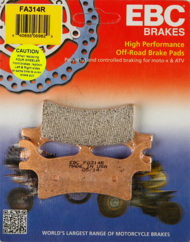 EBC Brake Pad Rear Kit FA314R for Polaris Sportsman 800 EFI 2005-2006