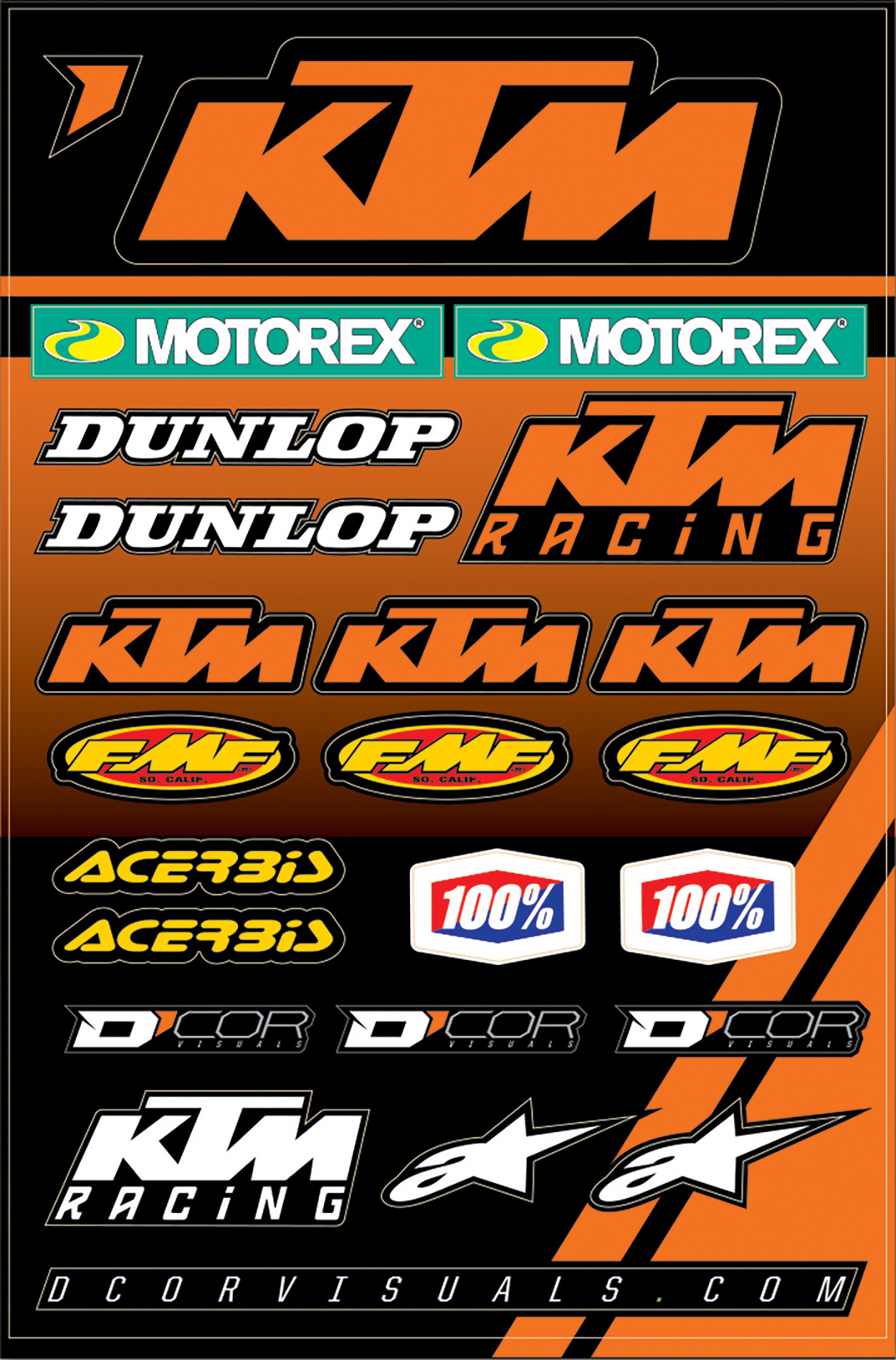 Ktm 2 Decal Sheet 862-30102