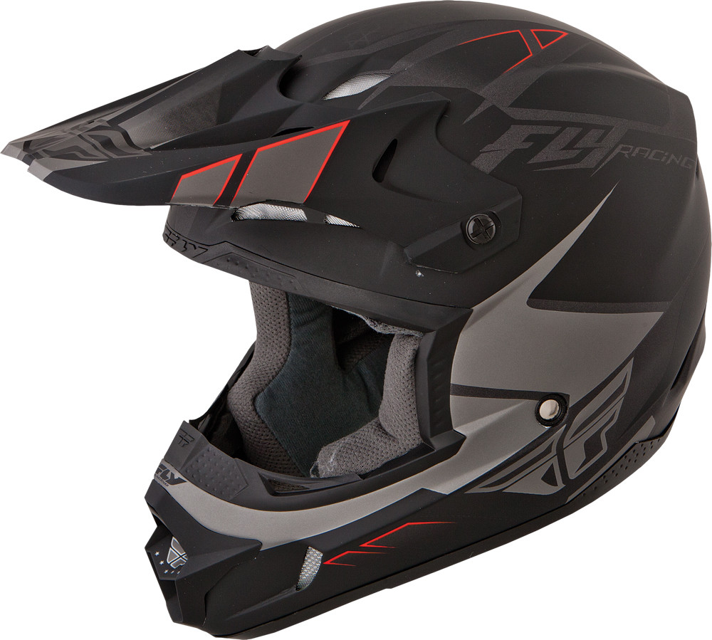 KINETIC IMPULSE Helmet Matte,  Grey Black YL 73-3360YL