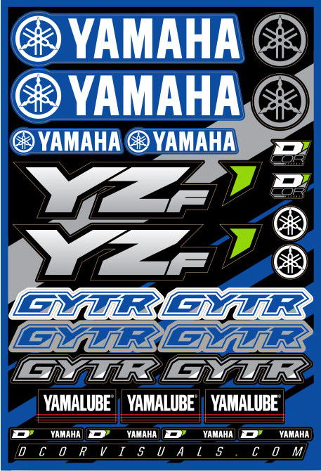 Decal Sheet Yamaha Yzf 862-51100