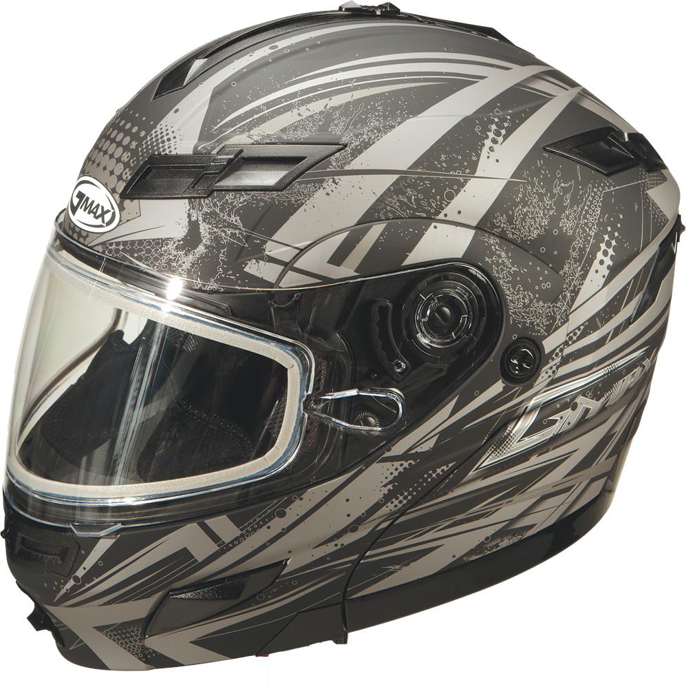 GM-54S MODULAR Snow Helmet,  Matte BLACK SILVER 72-6246XS