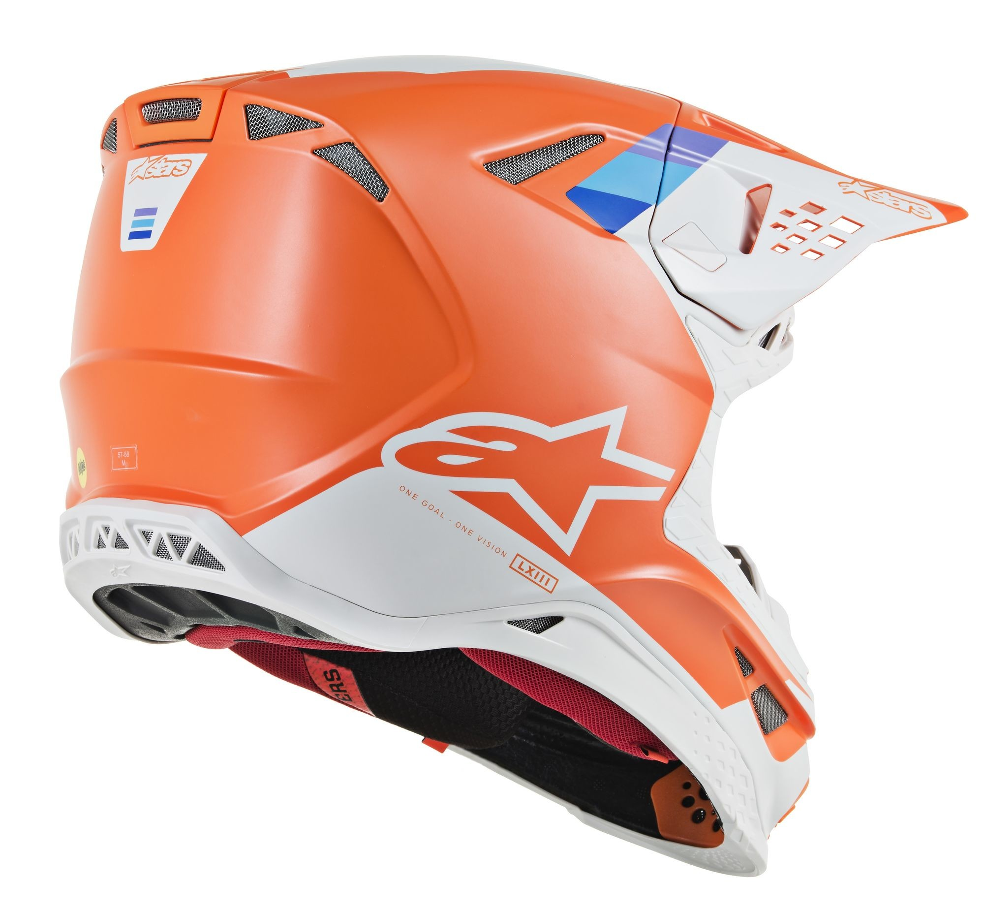 SUPERTECH M-8 Contact Helmet,  Orange Grey LG 482-9108L