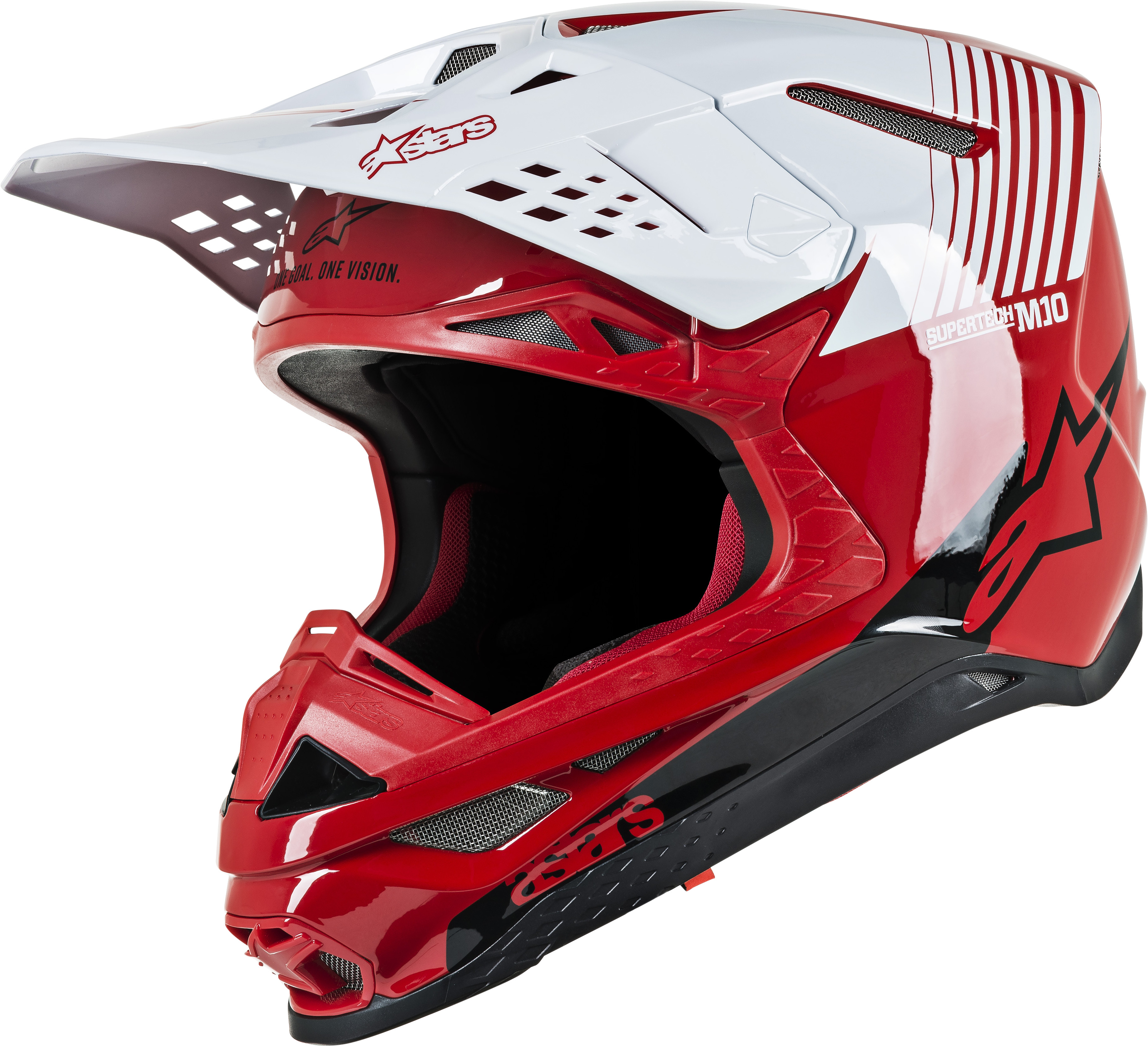 SUPERTECH M10 Dyno Helmet,  Red White MD 482-9002M