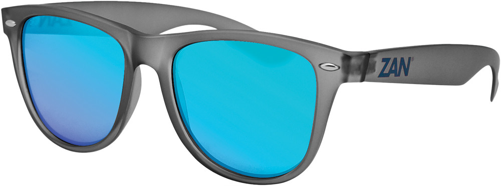Throwback Minty Sunglasses Matte Gray W/Smoke Blue Lens