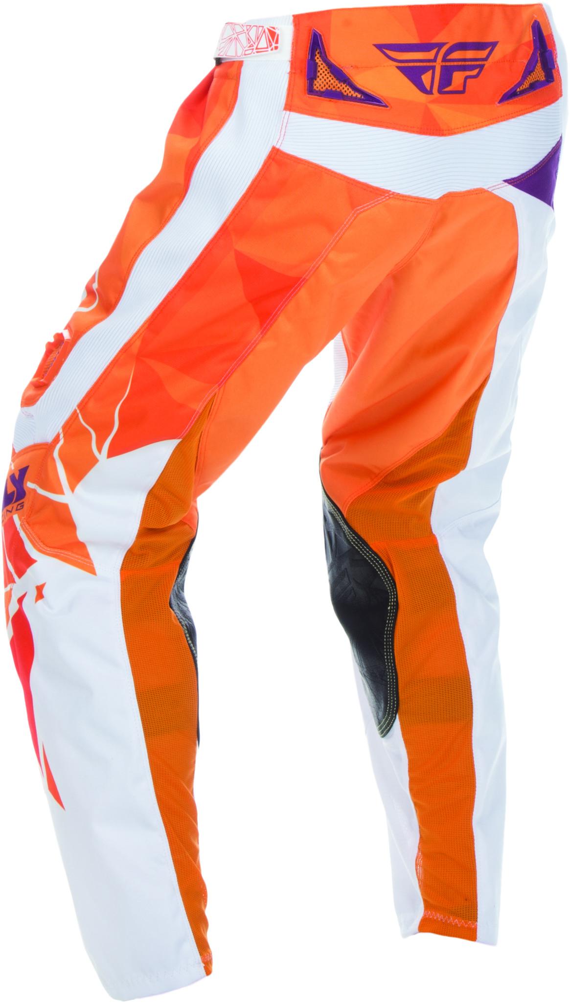 US 20 Youth Orange//Purple FLY RACING MX MTB BMX Kids 2017 Kinetic CRUX Pants