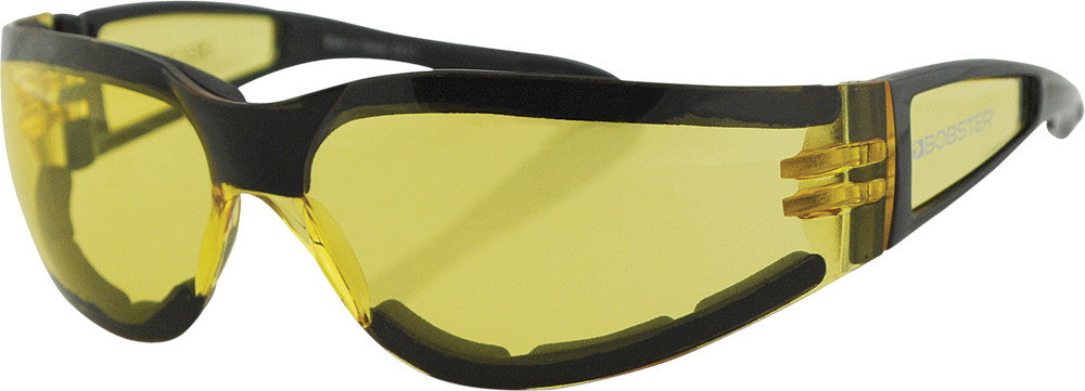 SHIELD II SUNGLASSES BLACK W/YELLOW LENS
